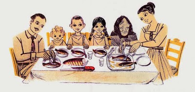 Αποτέλεσμα εικόνας για για να καθίσει.. ολη η ελληνική οικογένεια στο τραπέζι